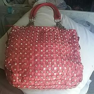 Beautiful Pink Leather Handbag